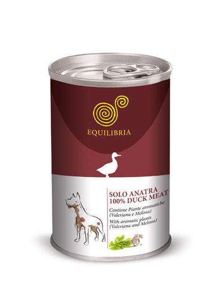 Консерва EQUILIBRIA за кучета с патешко месо